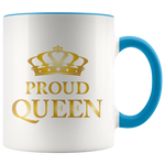 Proud Queen - Accent Mug (gold)