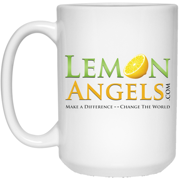 Lemon Angels 15 oz. White Mug