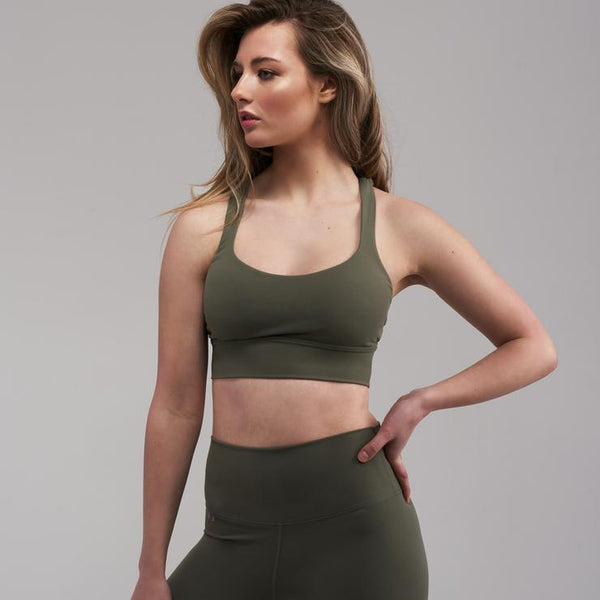 MELT Essentials Sports Crop - Dusty Khaki Crop KOBA