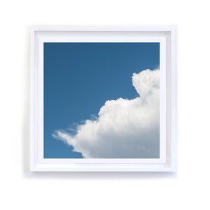 White Cloud Series, 3, Framed