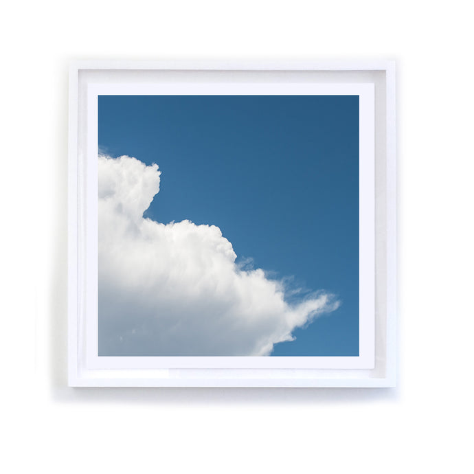 White Cloud Series, 3, Reversed, Framed