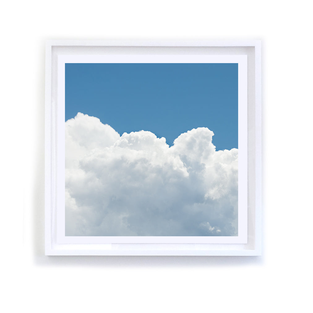 White Cloud Series, 4, Framed