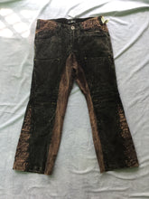 Load image into Gallery viewer, Acid Wash Denim Folded Patch-Pocket Two-Toned Pants