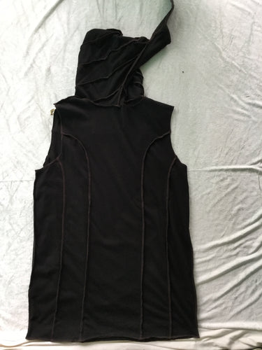 Soft ribbed tank with elf hood
