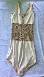 Organic Cotton Crochet midriff Dress