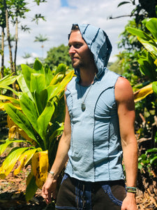 Men's Organic Shipibo Print Hooded Tank