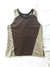 Load image into Gallery viewer, Men's organic Cotton Tank - Side Patches are Flower of Life  print