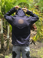 Load image into Gallery viewer, Men's Flower of Life Hooded Down-Sizable Jacket