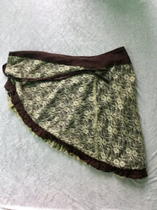 Reversible Lace Wrap Skirt