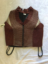 Load image into Gallery viewer, Indian Silk Cropped Zip Vest
