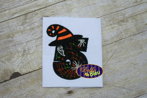 BBE - #5 Topped with A Halloween Witches Hat Applique - 3 Sizes!