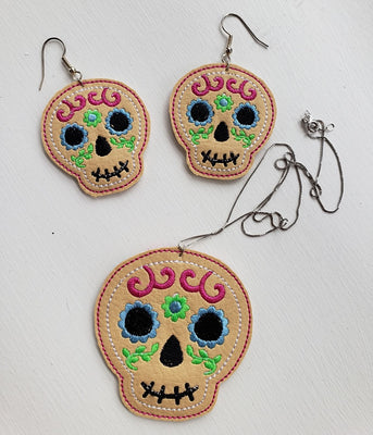 BBE - ITH Sugar Skull Earrings Jewelry