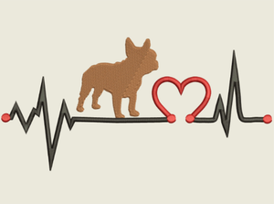 AGD 9552 French Bull Dog Heartbeat