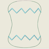AGD 9618 In the Hoop Burp cloth Zig Zag