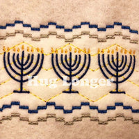 Faux Smocked Menorahs HL5686 embroidery files