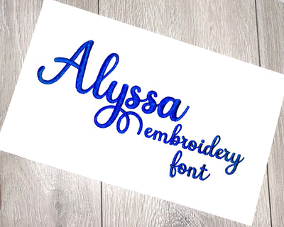 DDT Alyssa Font 4 sizes