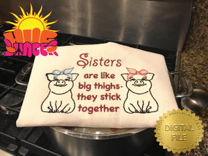 Big Thighs Sisters HL5752 embroidery files