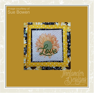 TD  - Sunflower Love Quilt Block