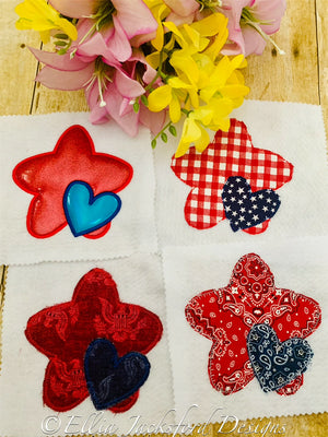 EJD Star and Heart Applique