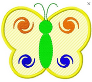 T2S Butterfly applique 1