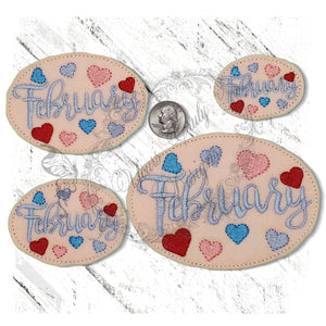 YTD February Hearts felties