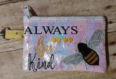 BBE ITH Bee Kind Zipper Bag Wallet