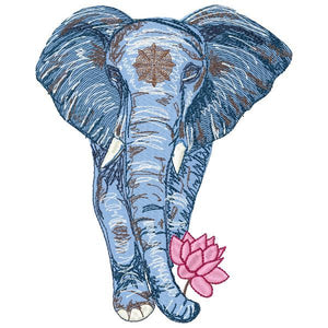 DED Walking Elephant with Lotus Flower