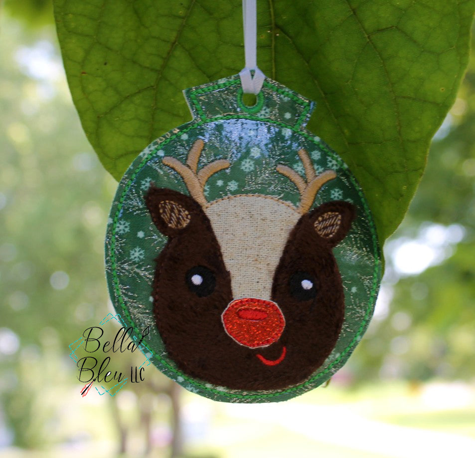 BBE - ITH Christmas Red Nosed Reindeer Ornament