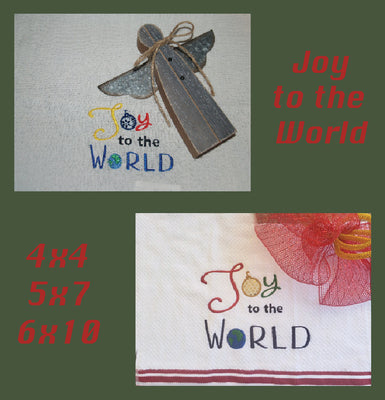 Joy to the World Appliqué HL5702