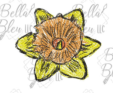 BBE Flower 8 Scribble Sketch