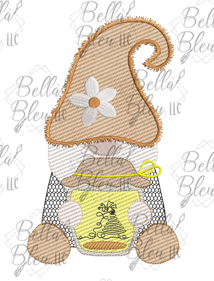 BBE Honey Bee Gnome Scribble