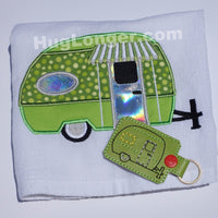 Applique Camper embroidery file HL1027 trailer little camper camping vacation