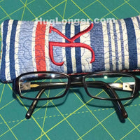 ITH Glasses Case embroidery file HL1055 sunglasses eyeglasses