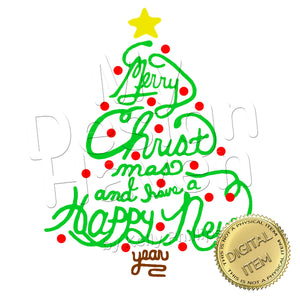 MDH Merry Christmas Tree SVG