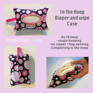 In the Hoop Diaper and Wipe Case embroidery file