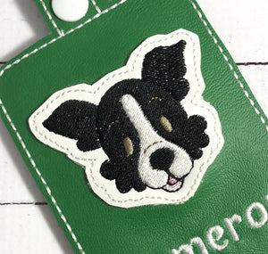 DBB Border Collie Face Feltie embroidery design