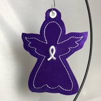 DBB Awareness Angel Christmas Ornament for 4x4 hoops