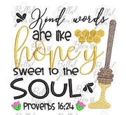 BBE Kind Words Proverbs 16: 24 sketchy