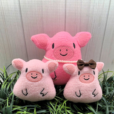 DBB Pig Stuffie Stuffed Animal In the Hoop Embroidery Design