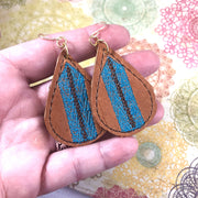 DBB Tenacity Textured Earrings Teardrop Earrings embroidery design