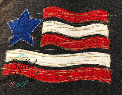 BBE Raggy American Flag Applique