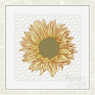 TD - Filled Sunflower Quilt Block