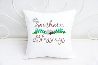 BBE - Southern Blessings with Cotton plant & branches sayings