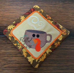 BBE - Sketchy Thanksgiving Turkey Coffee Mug Embroidery design