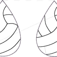 DBB Volleyball STITCHING Earrings embroidery design