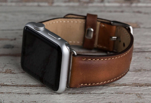 Genuine Leather Brown Band For Apple Watch