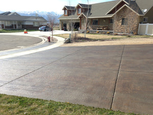 Driveway finished with Colorfast gloss for concrete from Convergent