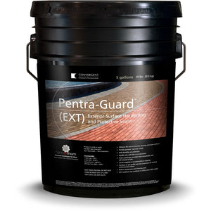 Black 5 gallon bucket labeled Pentra-Guard EXT