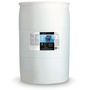 White 55 gallon drum labeled Pentra-Clean CR