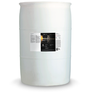 White 55 gallon drum labeled Pentra-Clean DC